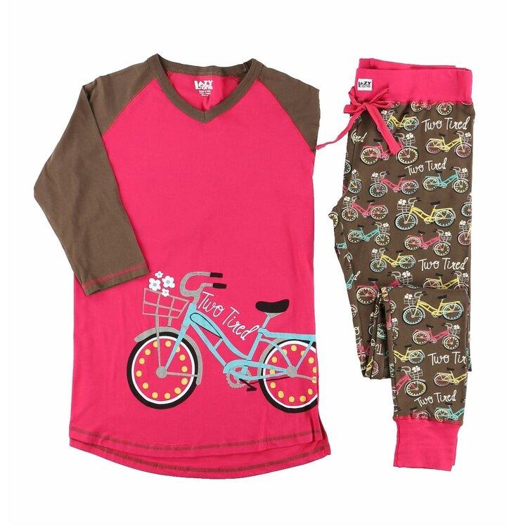 damen schlaf t shirt dreiviertelarm retro fahrrad dedoles. Black Bedroom Furniture Sets. Home Design Ideas