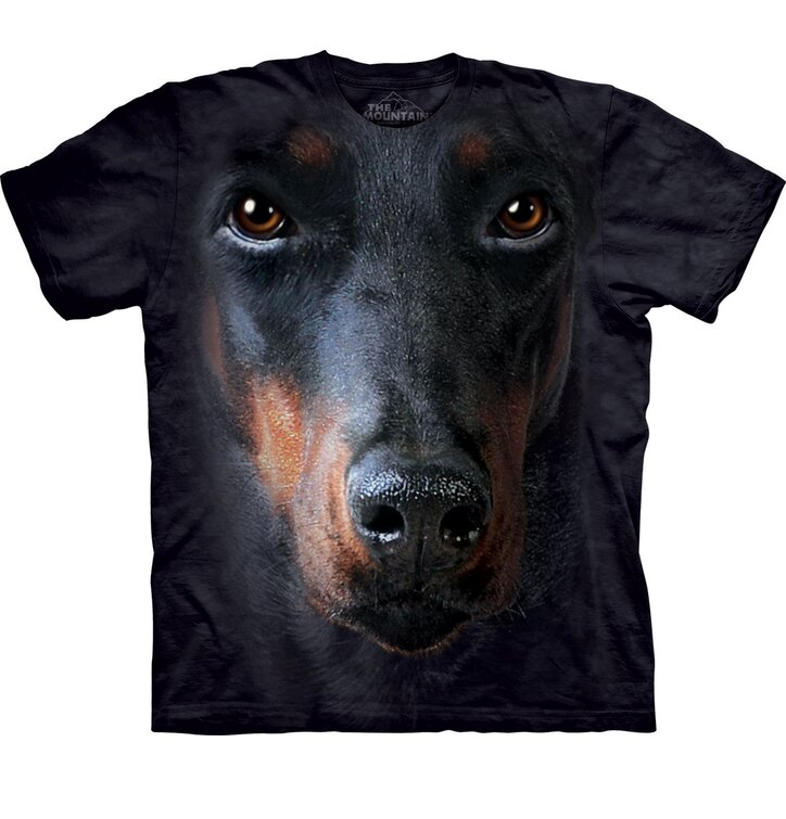 T-Shirt Dobermann Gesicht