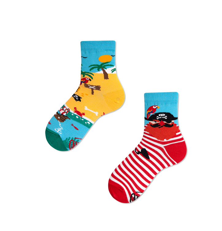 Lustige Kindersocken Pirateninsel