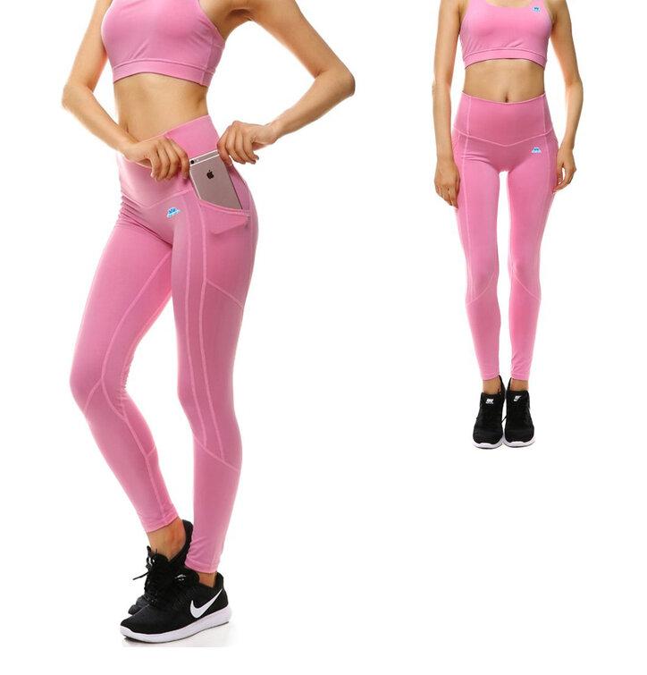 damen sport leggings mit tasche rosa dedoles. Black Bedroom Furniture Sets. Home Design Ideas