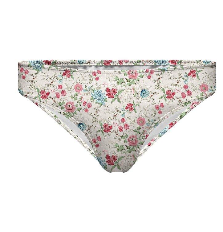 Bikini Unterteil klassischer Schnitt Blumenskizze   Dedoles 48348260bc