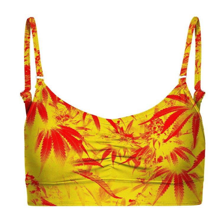 Bikini Oberteil mit Trägern Marijuana   Dedoles eb0743a6af