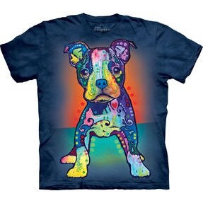 T-Shirt Kurzarm Russo Pit Bull Welpe