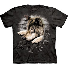 T-Shirt Trauriger Wolf