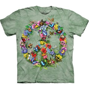 T-Shirt Schmetterlings-Frieden