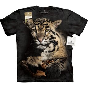 T-Shirt Wolkiger Leopard