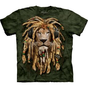 T-Shirt Löwe mit Dreadlocks