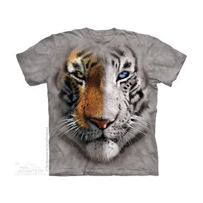 Kinder T-Shirt Zweifarbiger Tiger