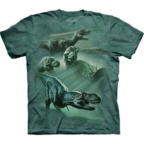 Kinder T-Shirt Collage Tyrannosaurus