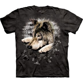 Kinder T-Shirt Trauriger Wolf