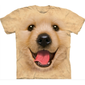 Cremefarbenes T-Shirt Golden Retriever Welpe
